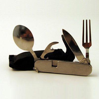 Kit Cuchara Tenedor Cuchillo Emergencia